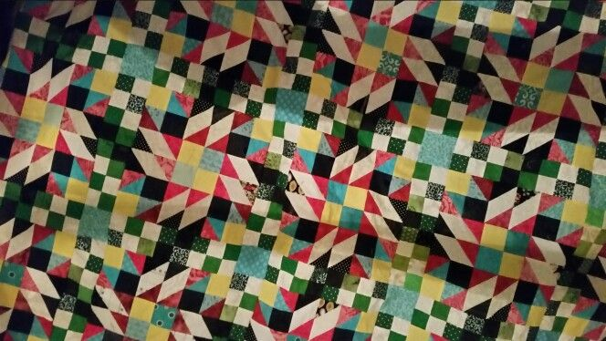 Closer view  of quilt  centre