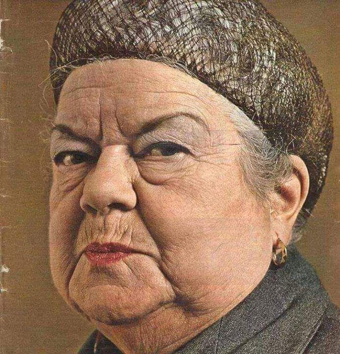 Ena Sharples from original series Coronation Street