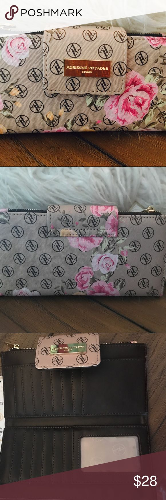 Adrienne Vittadini RDID Lined Security Wallet Gorgeous AND Safe!!! You will love taking this beautiful wallet out of your purse! Gorgeous Adrienne Vittadini Floral Wallet and RFID Lined for Identity Theft Protection. Everyone NEEDS one of these in today's times!. Will ship within 24 hours💗 Adrienne Vittadini Bags Wallets