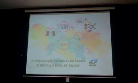 30/11/14 - 2º dia palestra/SEMACE IV SEMINÁRIO DE FISCALIZAÇÃO URBANO AMBIENTAL E GUARDA CIVIL MUNICIPAL SEDE FORTALEZA-CE e o III Encontro Regional de Fiscais Urbanísticos, Ambientais e Guardas Municipais.