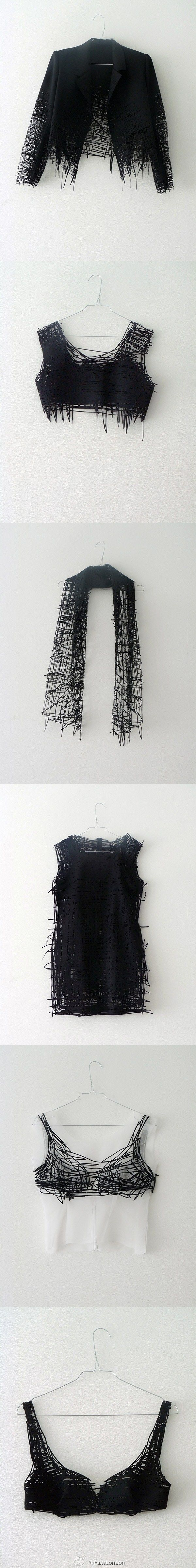 Designer Elvira 't Hart - a recent fashion graduate who translates 2D sketches to 3D laser-cut pieces