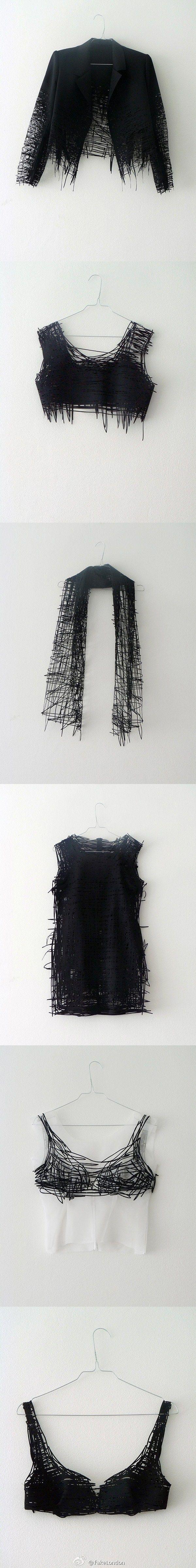 Designer Elvira 't Hart - a recent fashion graduate who translates 2D sketches to 3D laser-cut pieces