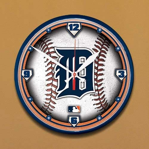Detroit Tigers Baseball Wall Clock: Baseball Wall, Wall Clock, Man Cave, Detroit Tigers Baseball, Tigers Round, Tigers Room, Mancave, Clocks