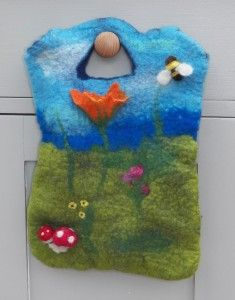 Wet Felted Bag By Eve Marshall. Beautiful!