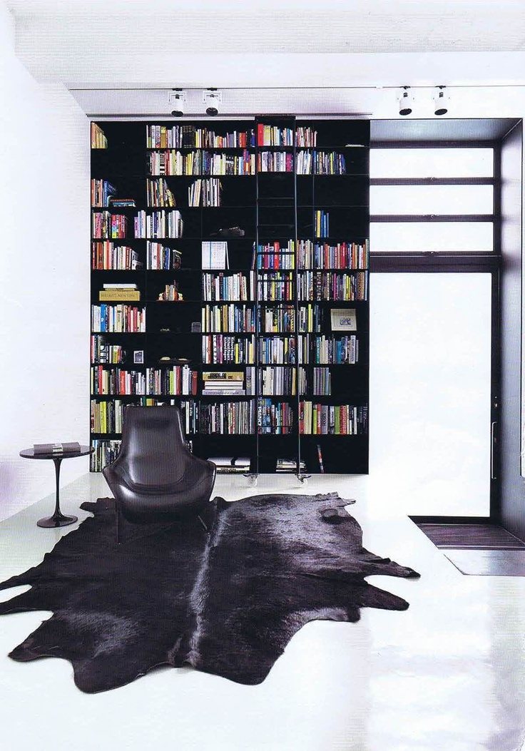 Nice black and white library room Strelein