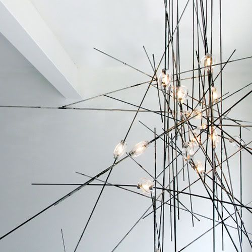 | LIGHTING | sticks and stones. when illuminating a space becomes less about a volume of mass and more about a playful connection of parts.