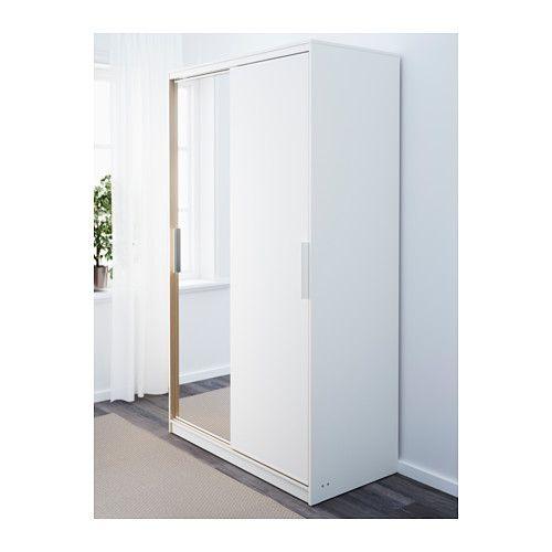 MORVIK Garderobekast - wit/spiegelglas - IKEA