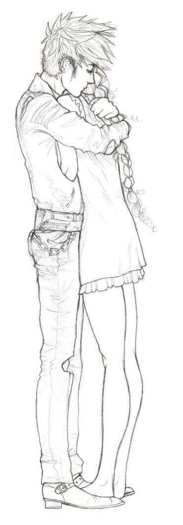 most romantic couple kissing and hug drawing images 5