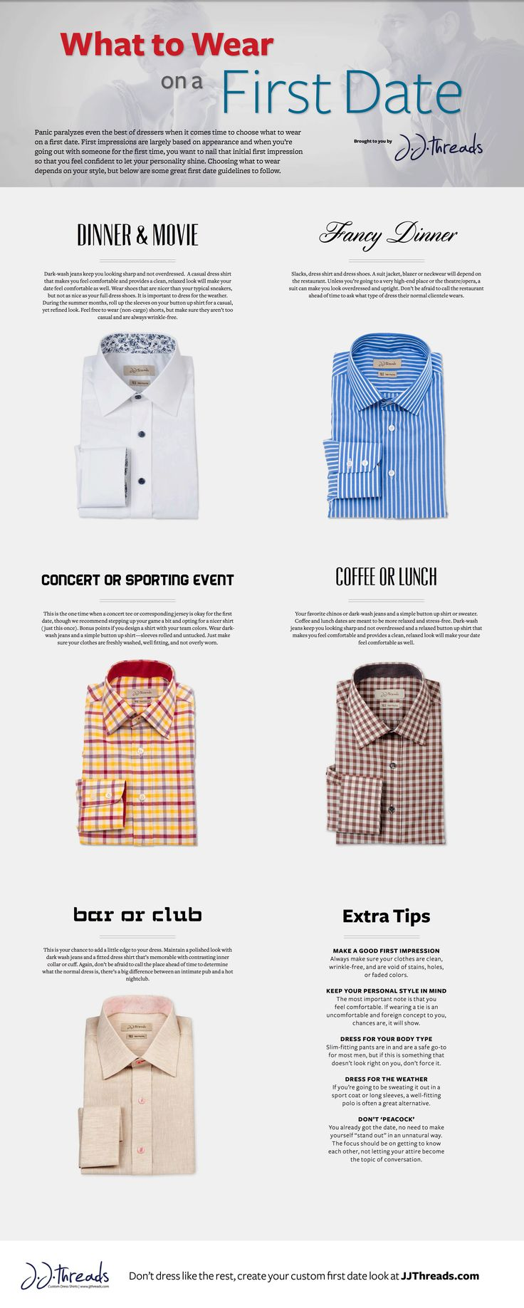 What to Wear on a First Date #infographic