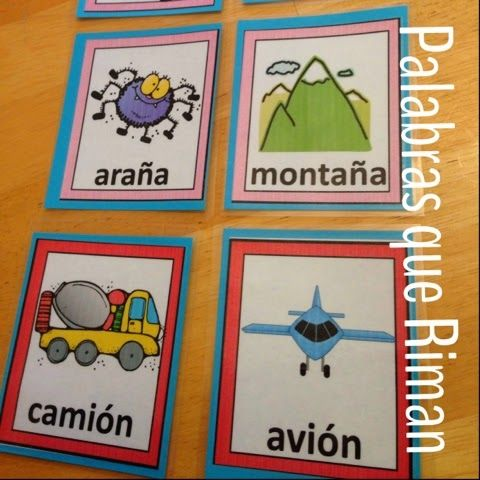 Ideas for using rhyming words to increase vocabulary in Spanish