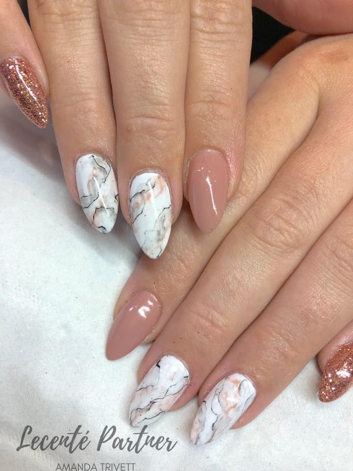 Lecenté Rose Gold Ultra Fine nails by Amanda Trivett