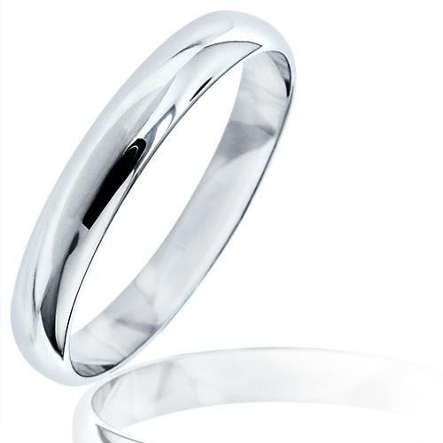 Alianza de boda de oro blanco de 18 quilates