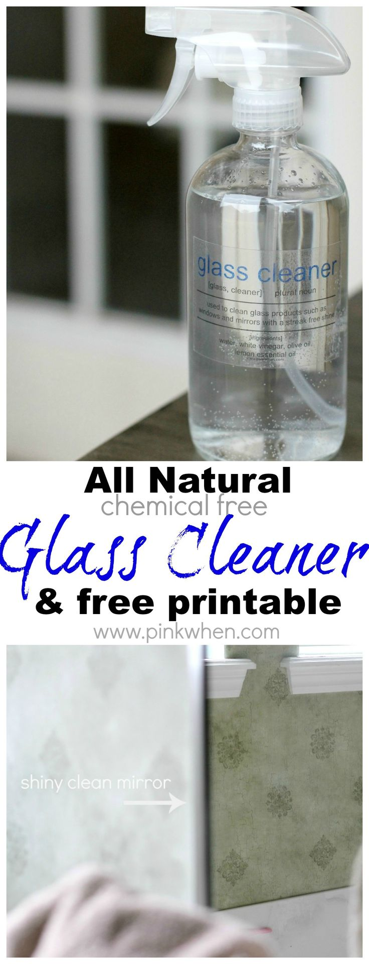 This is one of my favorite cleaners to date! All natural chemical free glass cleaner.