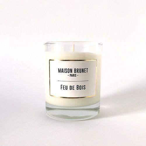 Bougie Feu de Bois - MAISON BRUNET -  #bougie #bougieparfumée #maisonbrunet #maisonbrunetparis