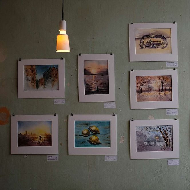 One more with my artworks on the wall. In case if you've missed everything here's a giveaway of any artwork print in my profile. Join untill it's too late :)