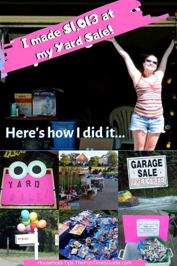 How I Made 1 013 At A Garage Sale 101 Of My Very Best Yard Sale Tips Yard Sale Organization Yard Sale Display Yard Sale Pricing