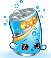 "Soda Pops (Shopkins 1-090, 1-100) Soda Pops is a red, blue, and white soda pop can that reads the word ""POP!"" His variant is green, white, and pink.  Soda Pops is an ultra rare Party Food Shopkin from Season One."