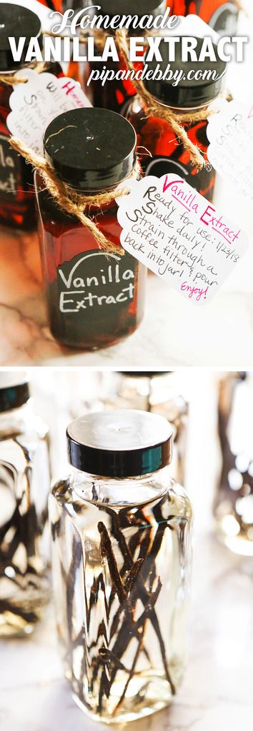 Homemade Vanilla Extract | Make your own vanilla at home! This recipe requires only TWO ingredients and you will be so happy with the way homemade vanilla flavors your baked goods. Great for gift-giving! #diyprojects #vanillaextract