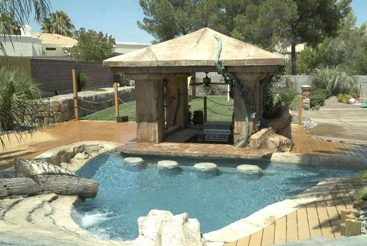 Backyard bbq bar ideas google search backyard bbq for Pool design with swim up bar