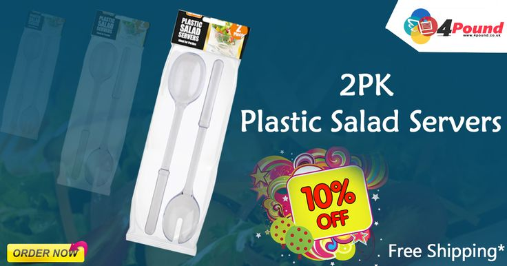 Buy 2PK Plastic Salad Servers for £1.77 Order today to get 10% OFF. Apply coupon code as 4pound10. #Free_Shipping #salad #servers #plastisaladservers #4pound  Product Description    :  2 Pieces Plastic Salad Server. White Colour Plastic Salad Servers. Ideal for Parties and Picnics. Perfect salads, mixing serving.  http://www.4pound.co.uk/2pk-plastic-salad-servers