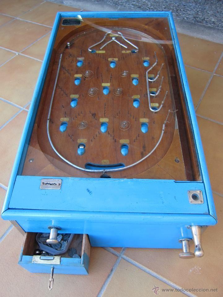 pinball mecanico antiguo bagatelle billar americano bingo juego bar de coleccion marca fabe sevilla