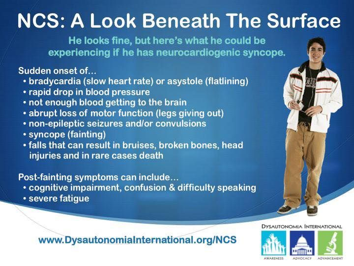Neurocardiogenic syncope (NCS) is the most common form of dysautonomia, impacting 1 out of 5 people.