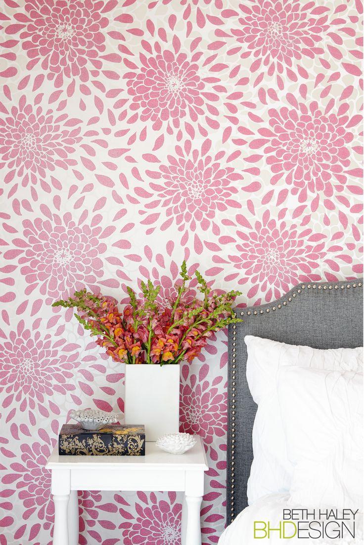 Flower Pop Wallpaper in Girls Room