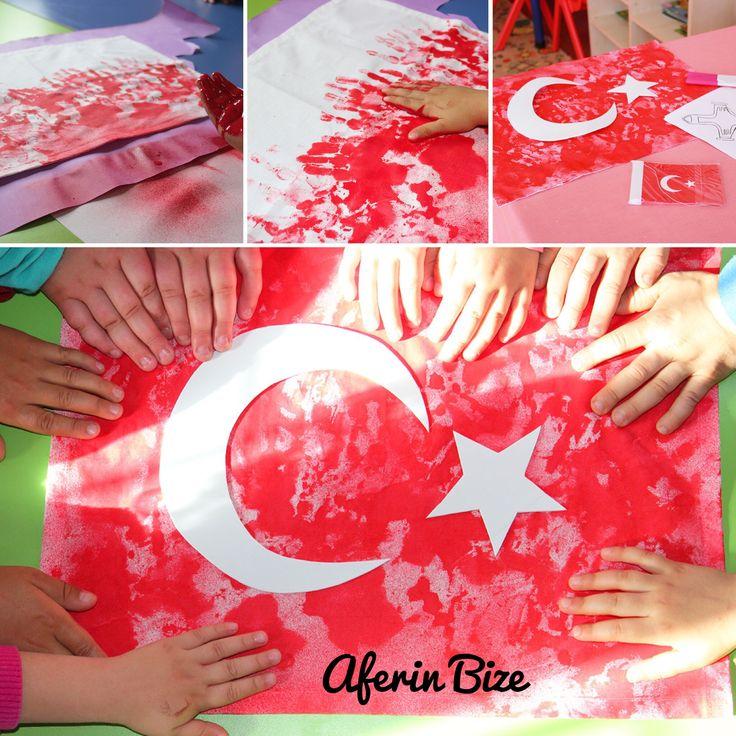 Minik Ellerimizle  Türk Bayrağımız
