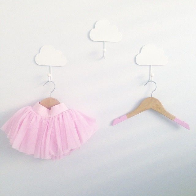 Painted White Cloud Hooks- Kmart Hack