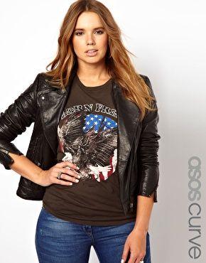 ASOS CURVE Leather Biker Jacket - Une jolie veste en cuir grande taille!