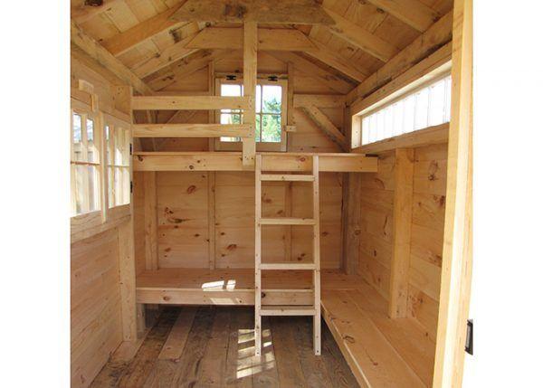 Bunkhouse | Cheap tiny house, Tiny house wood stove, Tiny house design