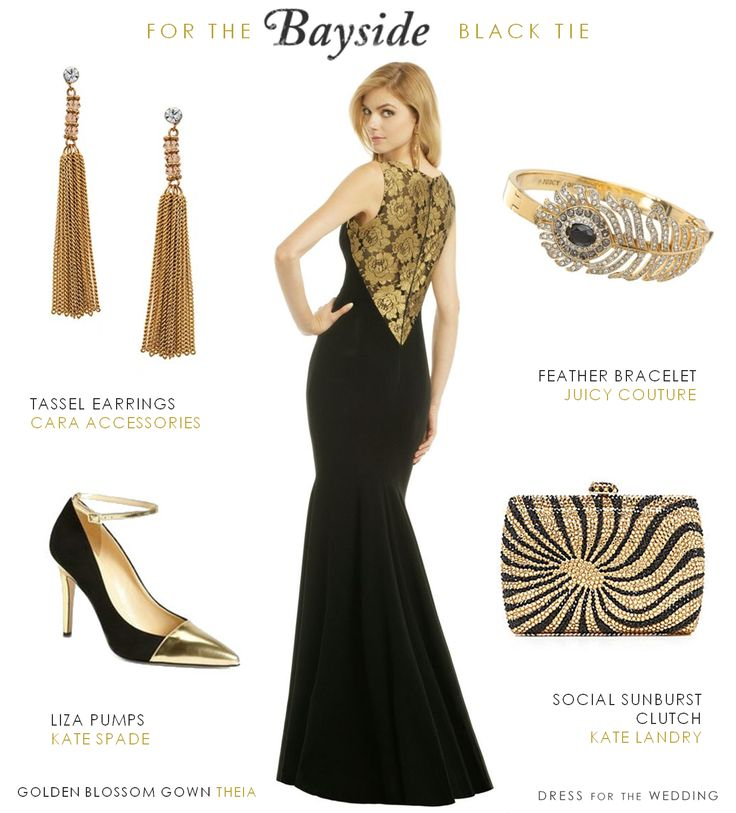 Black and Gold Gown for a Black Tie Wedding