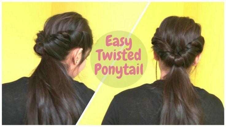 2 Min Easy Twisted Pferdeschwanz Frisur für mittleres Haar