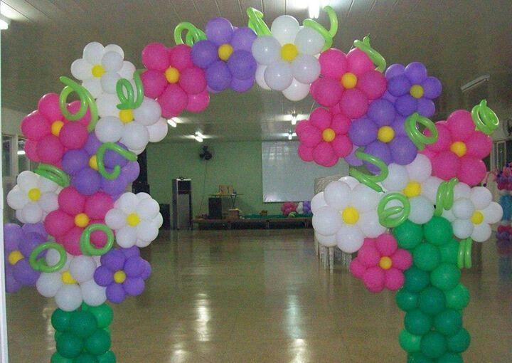 Flower Baloon Arch Decor PArty spring birthday wedding Event ...