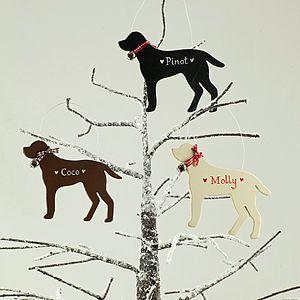 Personalised Dog Decoration