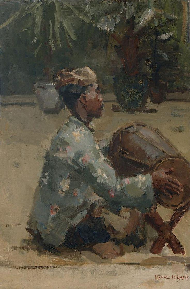 Isaac Israëls - Javanese drummer