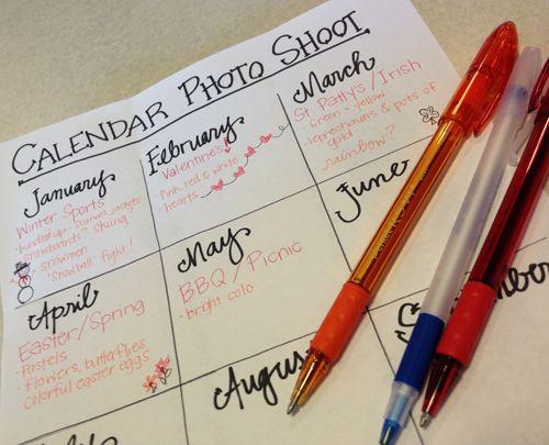 5 Tips for a Home Calendar Photo Shoot