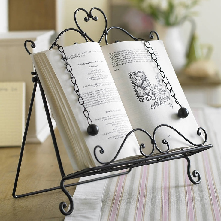 Amelie Cook Book Stand by Dibor on notonthehighstree...would love a cook boo or Bible stand like this!