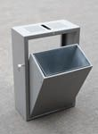 Tipper mild steel litter bin open