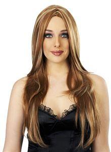 Brown & Blonde Star Studded Deluxe Wig - 380931   trendyhalloween.com