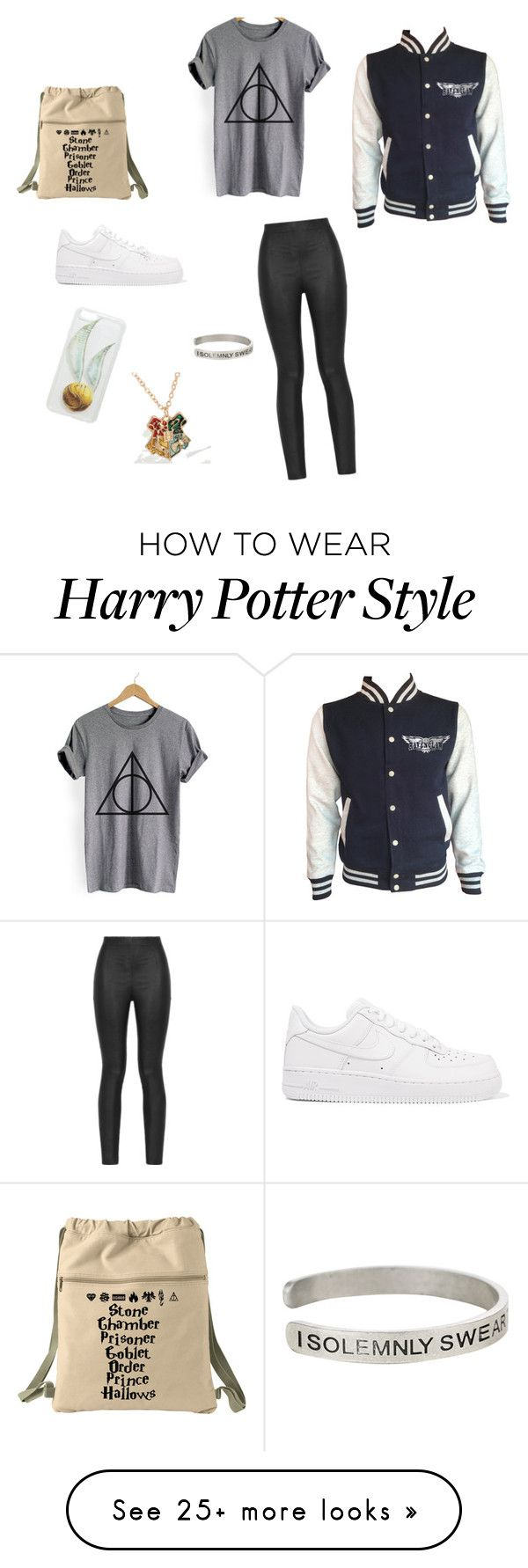 """Harry Potter style"" by justsomebodyelse on Polyvore featuring Warner Bros., Armani Jeans and NIKE"