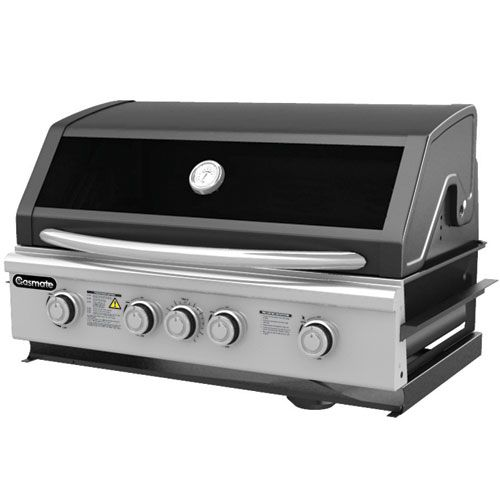 Gasmate Specialist Built In 4 Burner  Exactly the same body as the Specialist 4 Burner BBQ. Approved for Natural Gas.  Space Saving roll back hood.