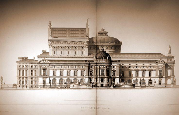 Side elevation of Garnier's Opera House, Paris