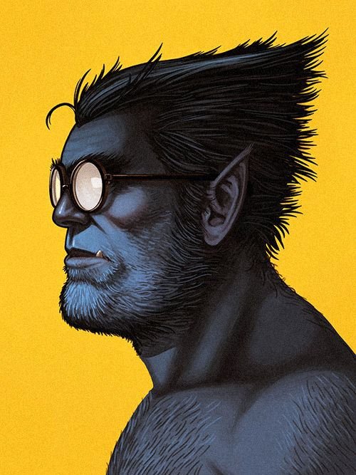 27 beast1 The Marvel Character Portraits by Mike Mitchell