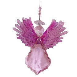 crystal angel suncatcher with soft pink wings designed by just like leadlight, from only $9.00 each assorted colours available