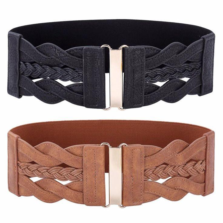 Braided Wide Belt, Women's Accessories, Ladies Belts, Clothing Shop