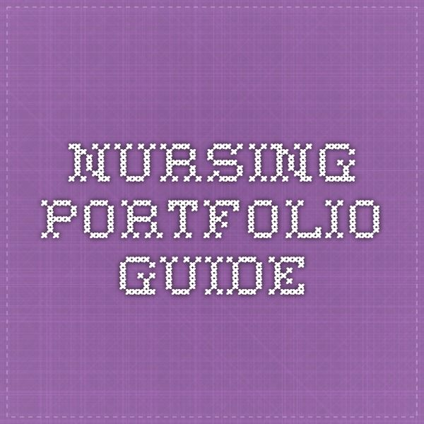 nursing portfolio As an innovation in nursing the portfolio is to be used for periodic registration with  the uk central council (ukcc), for the on‐going recording of learning, both.