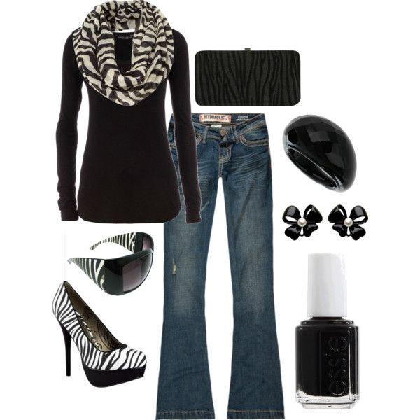 Zebra, created by jenna-vanhooser on Polyvore