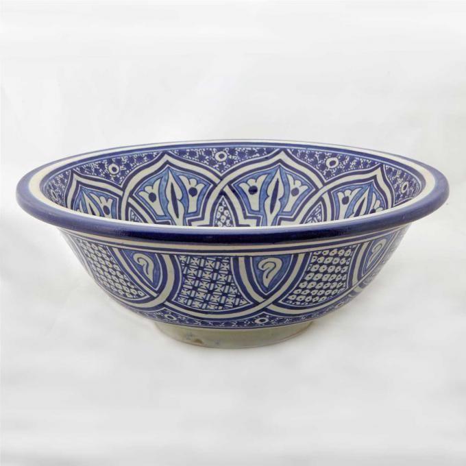Orientalisches-Handbemaltes-Keramik-Waschbecken Fes49 | bei Ihrem Orient Shop Casa-Moro