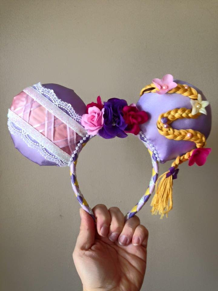 Rapunzel themed Disney mouse ears